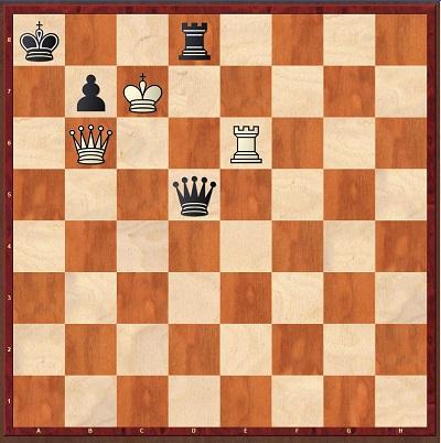 En la siguiente posición mueven blancas y hacen mate en 2 jugadas... La solución tiene que ir con lanotación correcta